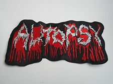 AUTOPSY EMBROIDERED LOGO DEATH METAL BACK PATCH