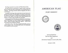#1208 First Day Ceremony Program 5c American Flag Stamp