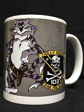 Custom US Navy F14 Tomcat Fighter Jet Coffee mug VF-103 Jolly Rogers Top Gun