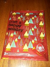 Wendy's Craft a Happy Holiday Pop-Up Card for Kids to Decorate Kids Meal Toy NIP
