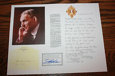 COA Authentic and Certified Henry Ford Hair Sample Piece Memorabilia Motor Co.