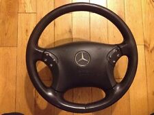 MERCEDES STEERING WHEEL AND AIR BAG C CLASS W203 4 SPOKE BLACK