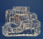 Partylite Crystal Castle Clear Glass 5 Tealight Candle Holder #P7170