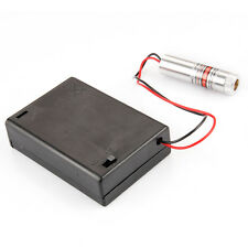 w/  Battery Case Focusable Laser Module 250mW High-power New Red Beam