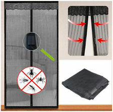 Magnetic Fastening Magic Curtain  Fly Bug Insect Screen Door Mesh black