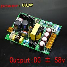 600W ± 58V DC power digital amplifier dedicated switching power supply board