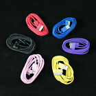 2X 2M 6.6 ft Long Colorful USB Data Sync Cable Charge Cord For iPhone 4 4S iPod