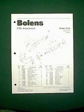 BOLENS TRACTOR PTO ATTACHMENT MODEL 18318 PARTS MANUAL 7/80