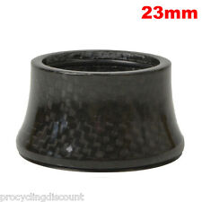 """OMNI Racer WORLDS LIGHTEST Integrated Headset Conical Carbon Spacer 1-1/8"""" 23mm"""