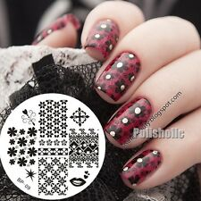 Nail Art Stamping Plate Flower Heart Anchor Image Stamp Template BORN PRETTY 09