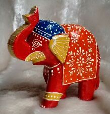 Elephant Wood Carving Ornament Gift Fair Trade Craft Hand Carved Statue Animal