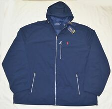 New 4XLT 4XL TALL 4XT POLO RALPH LAUREN Mens Anorak Windbreaker Jacket navy blue