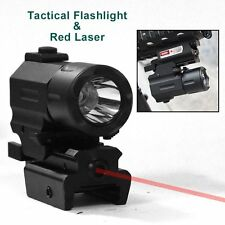 Tactical Compact Pistol Red Dot Laser Sight and Hunting Cree LED Flashlight KIT