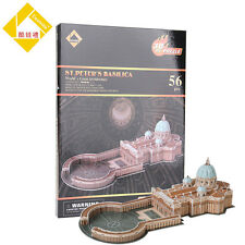 3D Puzzle Jigsaw Vatican St. Peter's Basilica Educational DIY Toy for Kid Gift