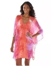 NEW JENNIFER LOPEZ JLO KAFTAN DRESS SIZE MEDIUM JEWELLED TYE Dye BNWT BATWING