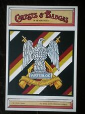 POSTCARD THE ROYAL SCOTS DRAGOON GUARDS BADGE