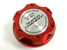 RED SUPERCHARGED BILLET CNC RACING ENGINE OIL FILLER CAP FOR HONDA ACURA