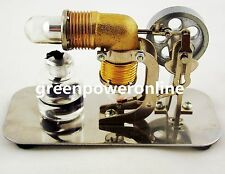 Mini Hot Air Stirling Engine Model Educational Toy Assembled Electricity HA001