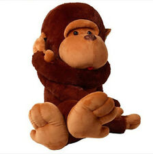 100% Cotton 80CM Stuffed Giant Plush Brown Monkey Huge Soft Doll Toy Child Gift