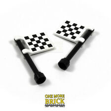 LEGO Chequered Race flags - Checkered printed finish line racing flags