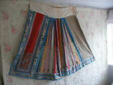 Antique Chinese silk embroidered skirt panel, hand embroidery robe