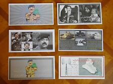 George W Bush White House Issue Saddam Hussein WANTED posters dropped over Iraq