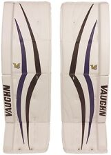 New Vaughn 1100 senior ice hockey goalie leg pads 32+2 Sr Velocity V6 Black/Blue