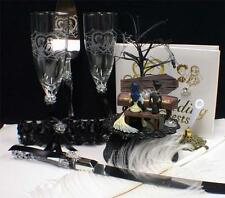 Corpse Bride Wedding Cake topper LOT Glasses Knife Book Garter Halloween Spider