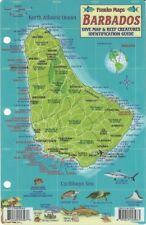 Barbados Dive Map & Reef Creatures Guide Laminated Fish Card Franko Maps