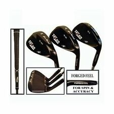 TEXAN GOLF GUN METAL 3 WEDGE SET 56°-60°-64° LOFT