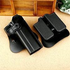 One Set Tactical Retention Roto Paddle Holster Double Magazine Pouch for PT1911