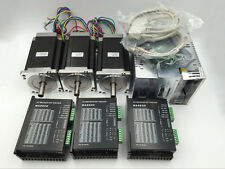 3 Axis Nema34 Stepper Motor Driver Set 920oz.in &Power Supply&Board CNC Kit