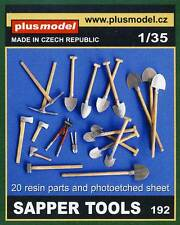 Plus Model-Sapper Tools Herramientas pala hacha alicates diorama Accessories 1:35