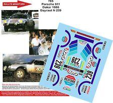 DÉCALS 1/43 réf 785 Porsche 911 Dakar 1986 Dayraut N 239