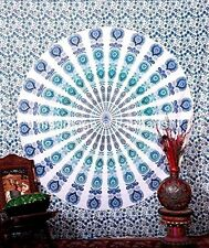 Hippie Tapestry Mandala Bohemian Indian Decor Wall Hanging Ethnic Blue Queen