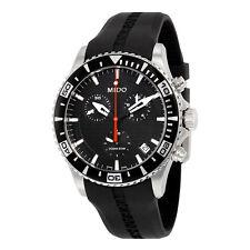 Mido OS Captain Chronograph Black Dial Black Rubber Mens Watch M0114171705122
