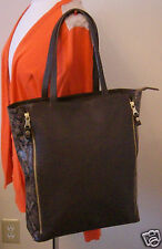 Massimo Dutti Large Handbag/Shoulder Bag  Brown Leather Made in Morocco