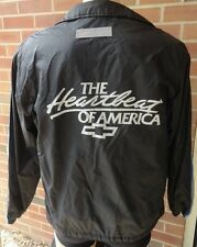 ~VTG Mens Chevy Chevrolet ~Heartbeat Car Racing Nylon Bomber Jacket Sz M ~USA