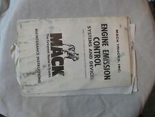 MACK TRUCK ENGINE EMISSION CONTROL 1973-1975 GUIDE INSTRUCTIONS TS485 complete