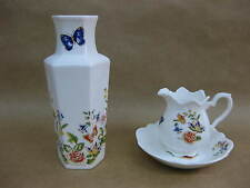 "Aynsley ""Cottage Garden"" Jug, Dish & Vase  ~ English Fine Bone China"