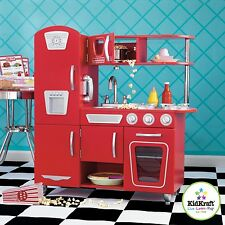 Kidkraft Red Vintage Kitchen, Kids Wooden Toy Play Kitchen