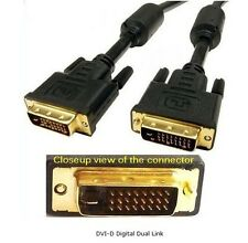 YellowKnife - DVI-D Male/Male Dual Link Digital Video Cable w/Ferrite Cores,10FT