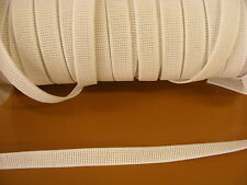 Elastic White Ribbed Non Roll 12mm x 5 metres