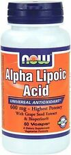 Alpha Lipoic Acid 600 mg 60 Veg Capsules - NOW Foods