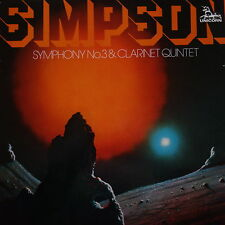 UNS 262 Robert Simpson Symphony No. 3 / Clarinet Quartet / Horenstein / LSO