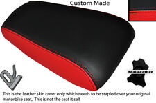 BLACK & RED CUSTOM FITS HONDA LS 125 R 95-03 REAR LEATHER SEAT COVER ONLY