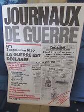 JOURNAUX DE GUERRE N° 1 AFFICHE ORDRE DE MOBILISATION GENERALE.......  1983