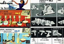 Publicité Advertising 1962 (2 pages) Les Robots de Cuisine Moulinex