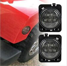 Amber Front Fender LED Side Light Parking Turn Lamp For Jeep Wrangler 07-15