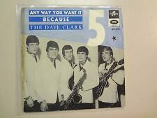 "DAVE CLARK FIVE:AnyWay You Want It-Because-Sweden 7""64 Columbia E.M.I.DS2245 PSL"